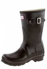 Hunter Gummistiefel -Orginal Short Classic chocolate- ein brauner Gummistiefel, halbhoch, modernes Design, top Qualit�t