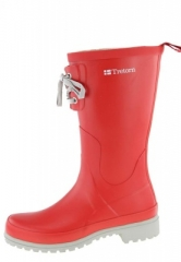 Tretorn Damengummistiefel - SOHO red -  ein Regenstiefel im modernen Style und Trendschnrung by Tretorn