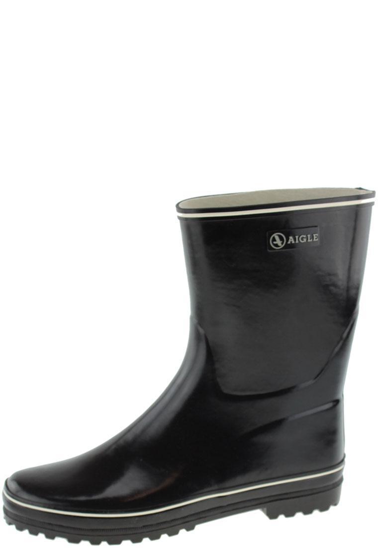 Kurzer Gummistiefel von Aigle - VENISE BOTTILLON noir - der stylische Damen Gummistiefel 38 VneCMl