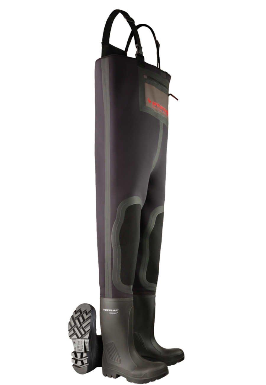 Wathose Dunlop Purofort Full Safety Mit Stahlkappe Und