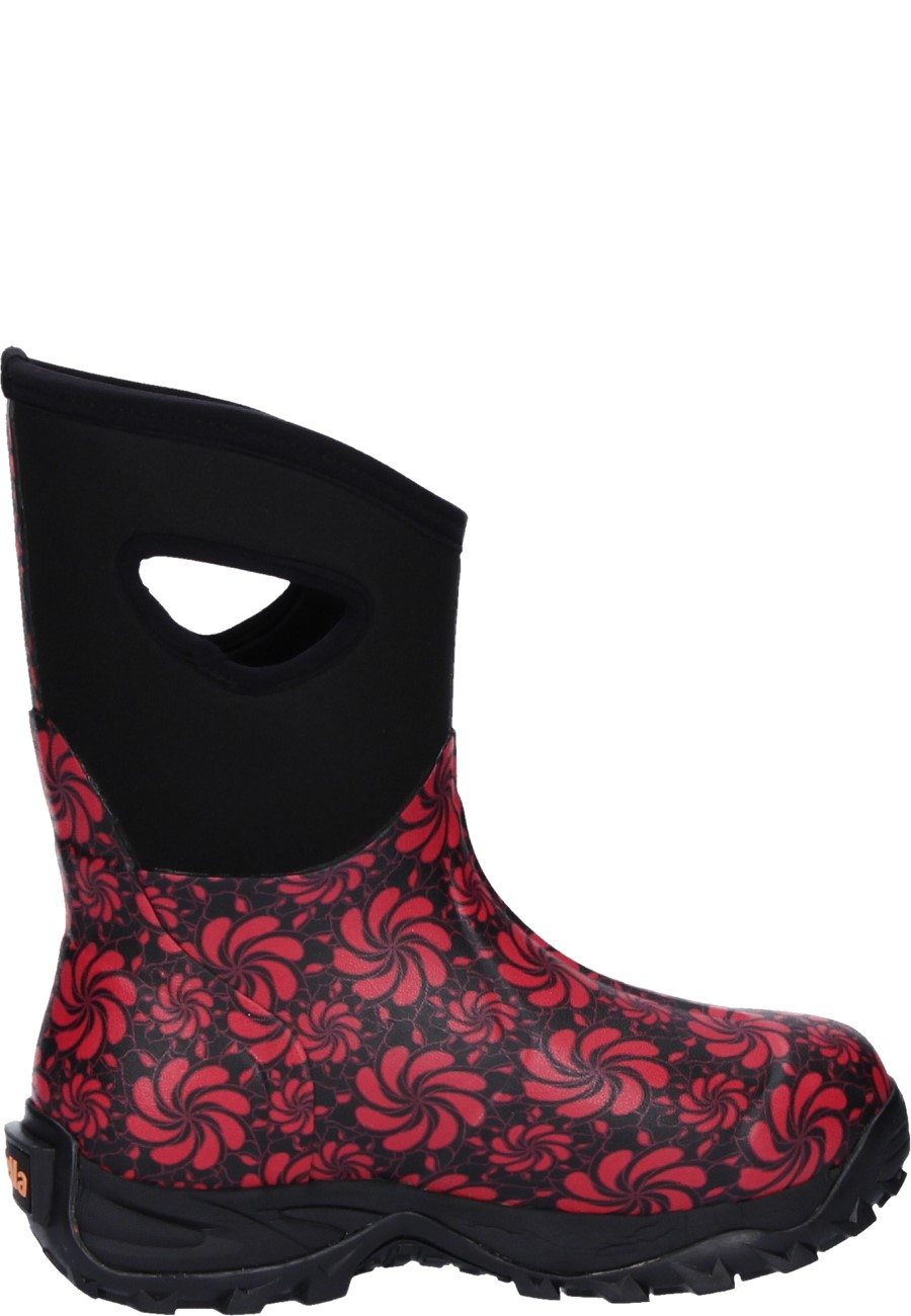 Fella Damen Gummistiefel EVA SHORT black/red 40 E7DHH