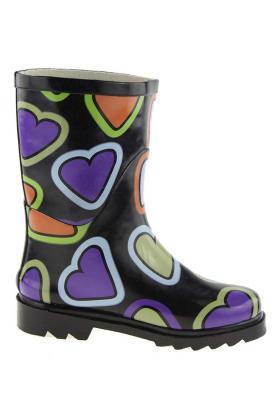 Kindergummistiefel - Herzen - der trendige Stiefel für junge Mädchen im Partnerlook zum Damenstiefel 32 kqtIJY
