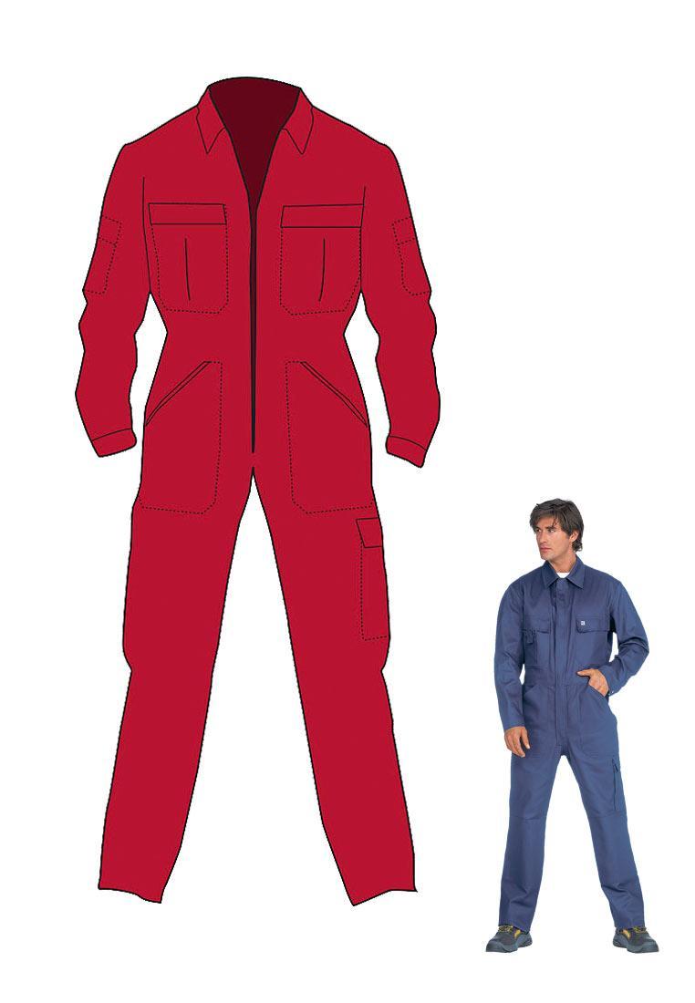 overall f r arbeit beruf und freizeit in rot 100 baumwolle. Black Bedroom Furniture Sets. Home Design Ideas