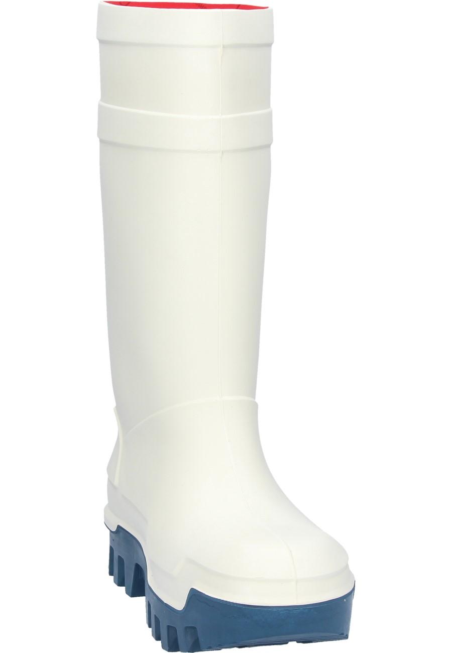 Dunlop Purofort thermo + mit Stahlkappe, Thermoisolierung bis - 40 °C Gummistiefel in weiß, 9