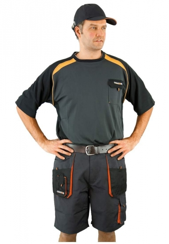 kurze arbeitshose shorts bundhose in grau von terratrend. Black Bedroom Furniture Sets. Home Design Ideas