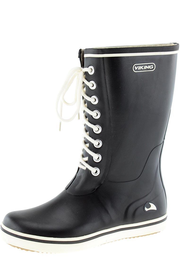 Viking Retro Light Schwarz, Damen Gummistiefel, Größe EU 36 - Farbe Black Damen Gummistiefel, Black, Größe 36 - Schwarz