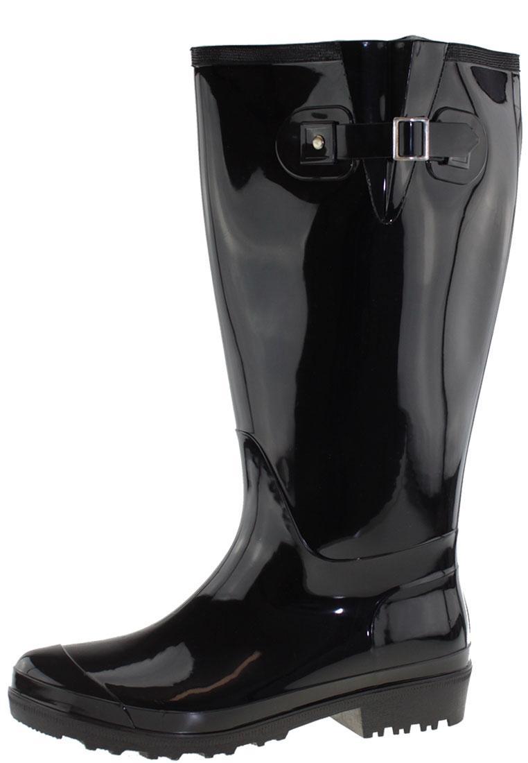 Gummistiefel Wide Wellies black mit weitem XL Schaft